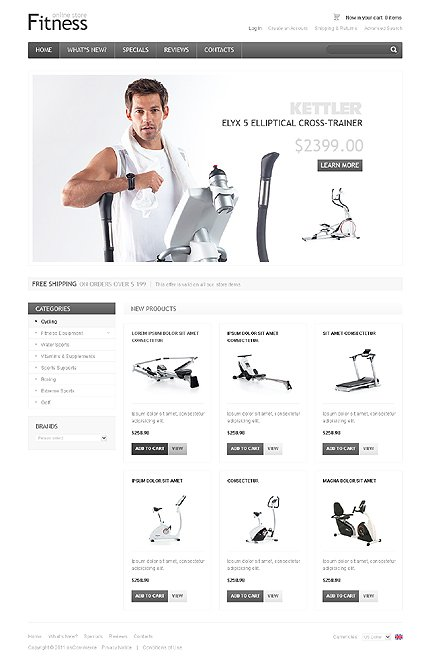 osCommerce Template 34684 Main Page Screenshot