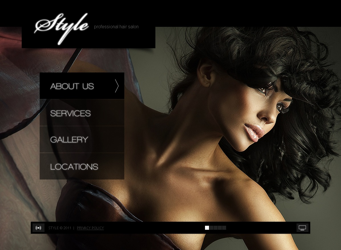 Hair Salon Flash Template #34659