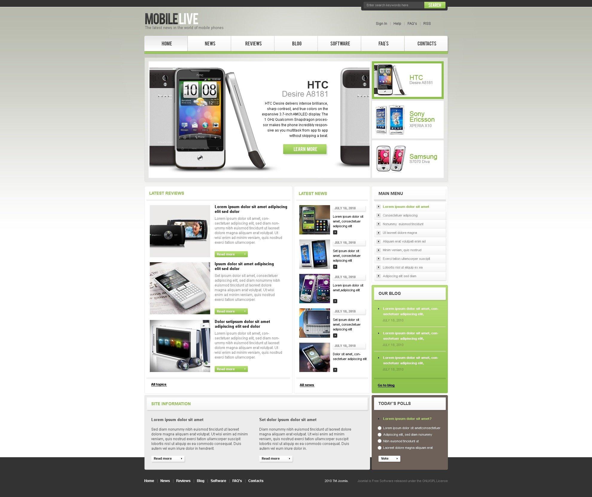 Mobile Store Joomla Template 34677