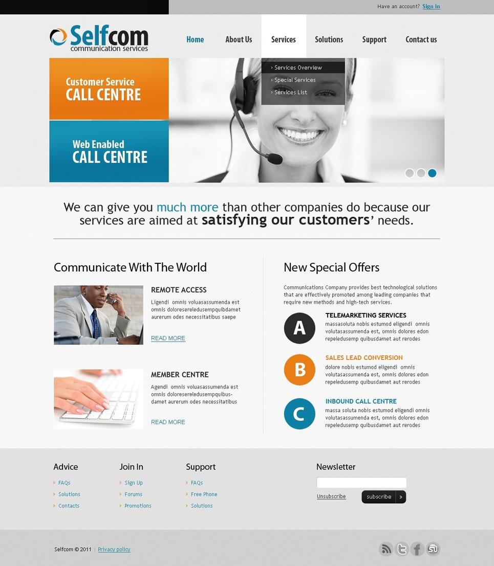 Template siti web per un sito di comunicazioni for Siti web di home plan