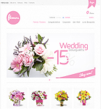 Flowers VirtueMart  Template 34736