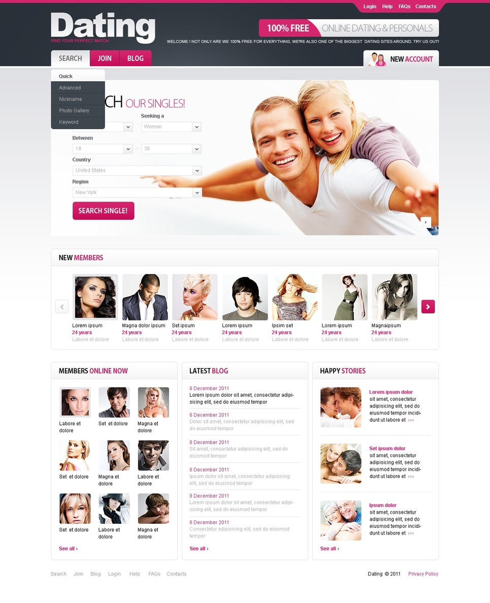 Mod le web 34766 pour site de rencontres for Online sites in usa