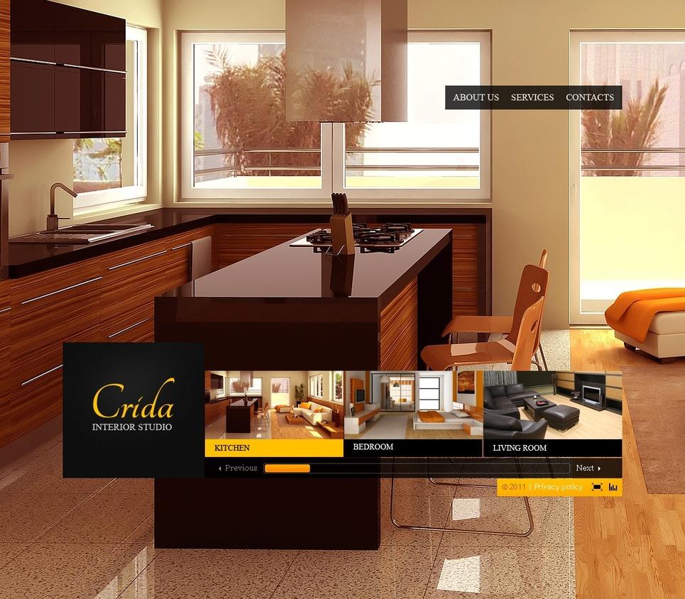 Modello flash per un sito di design di interni for Corso di design di interni
