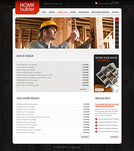 Template 34879 ( Choose A Plan Page ) ADOBE Photoshop Screenshot