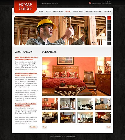 Template 34879 ( Gallery Page ) ADOBE Photoshop Screenshot