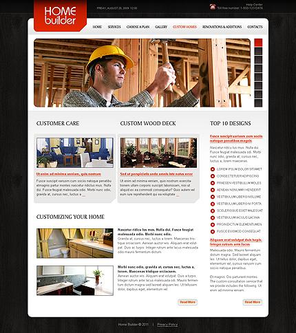 Template 34879 ( Custom Homes Page ) ADOBE Photoshop Screenshot