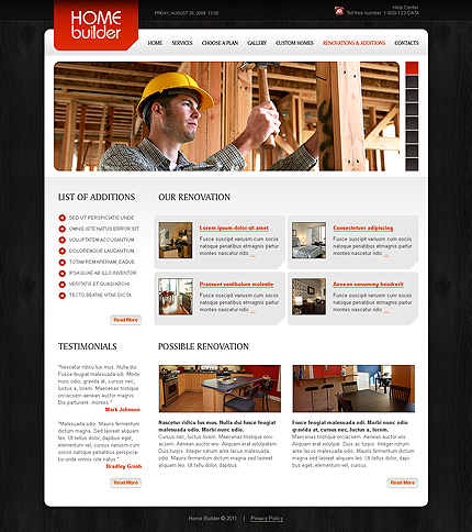 Template 34879 ( Renovations & Additions Page ) ADOBE Photoshop Screenshot
