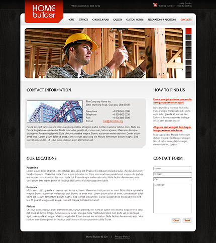Template 34879 ( Contacts Page ) ADOBE Photoshop Screenshot