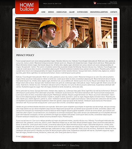 Template 34879 ( Privacy Policy Page ) ADOBE Photoshop Screenshot