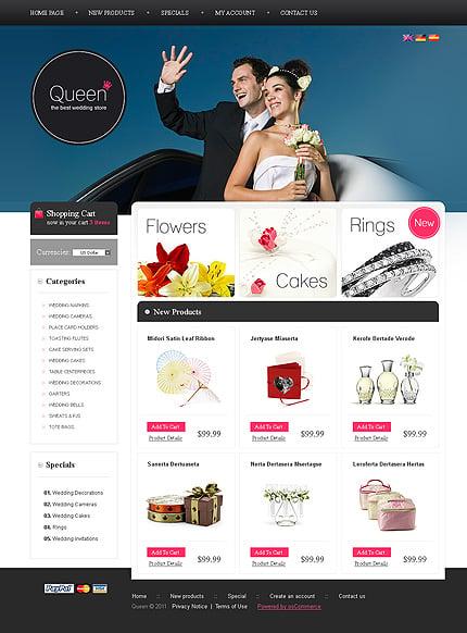 osCommerce Template 34896 Main Page Screenshot