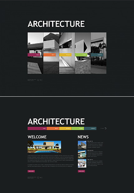 ADOBE Photoshop Template 34983 Home Page Screenshot