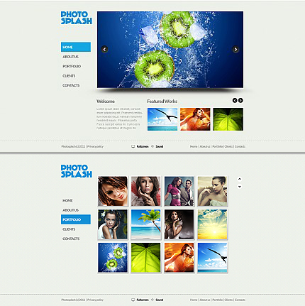 ADOBE Photoshop Template 34985 Home Page Screenshot