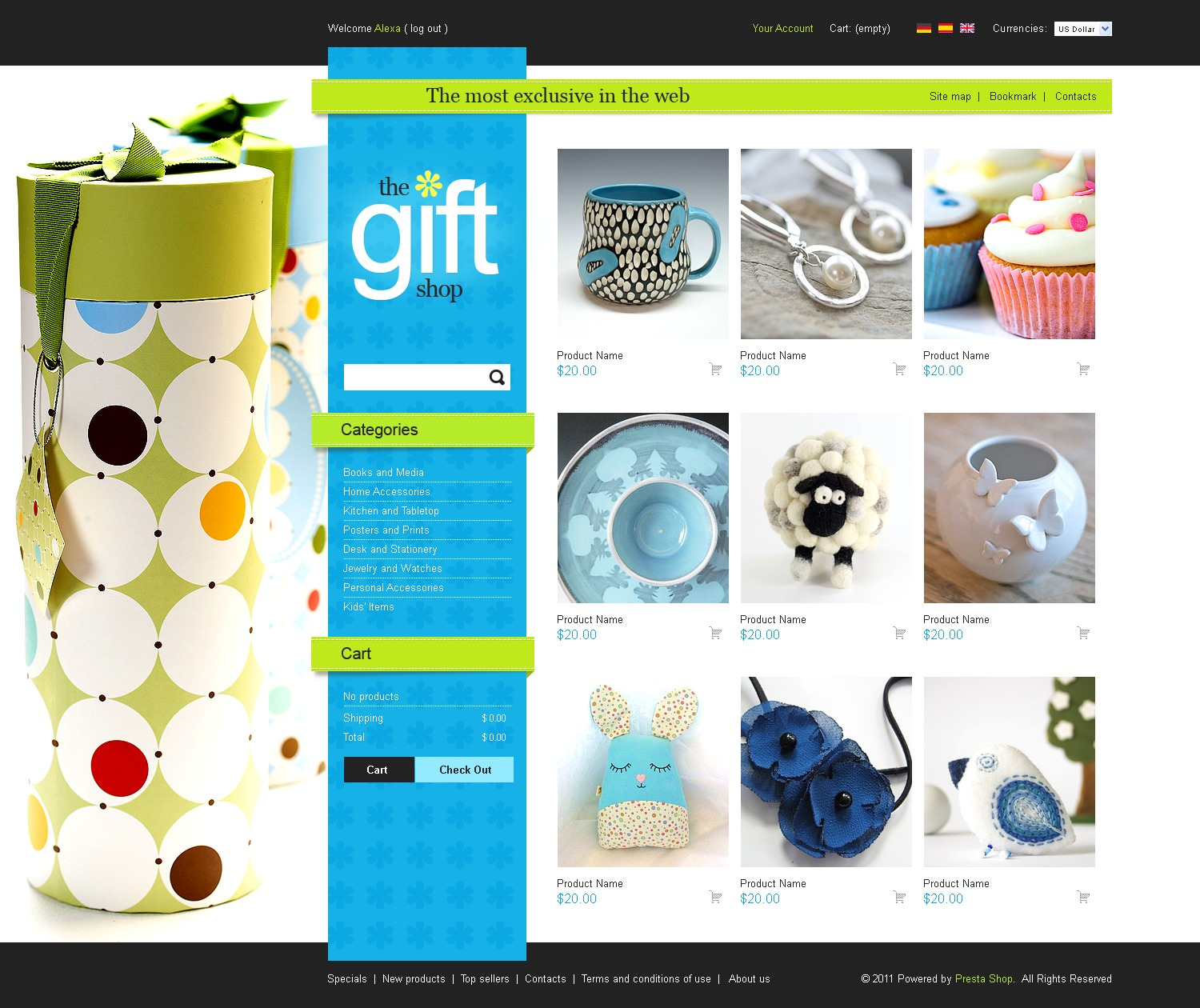 Beautiful gifts prestashop theme 34917 for Presta shop templates