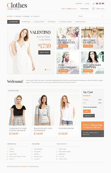 ADOBE Photoshop Template 35046 Home Page Screenshot