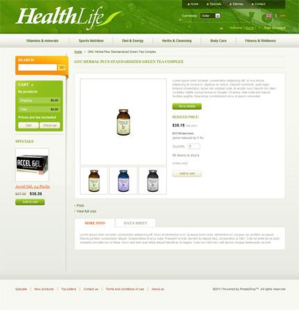 ADOBE Photoshop Template 35048 Home Page Screenshot
