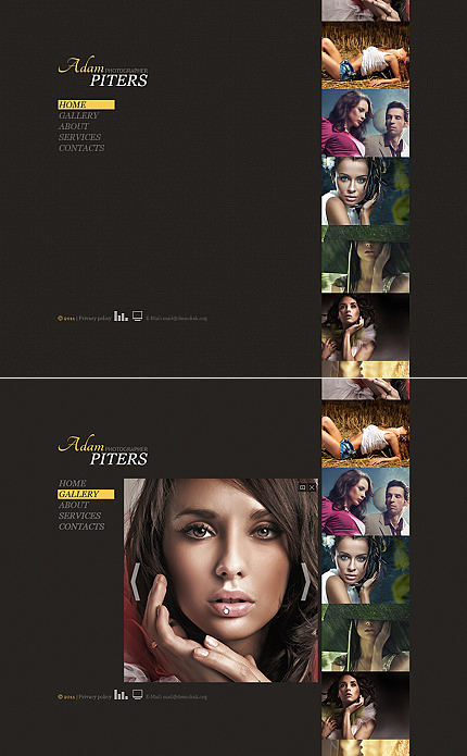 ADOBE Photoshop Template 35090 Home Page Screenshot