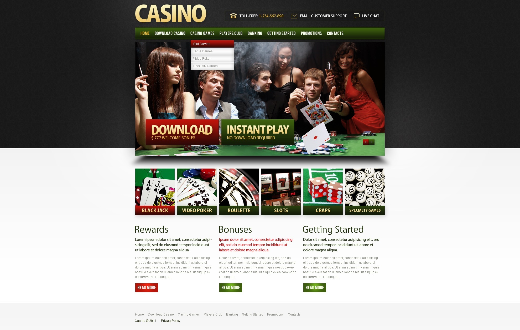 casino features