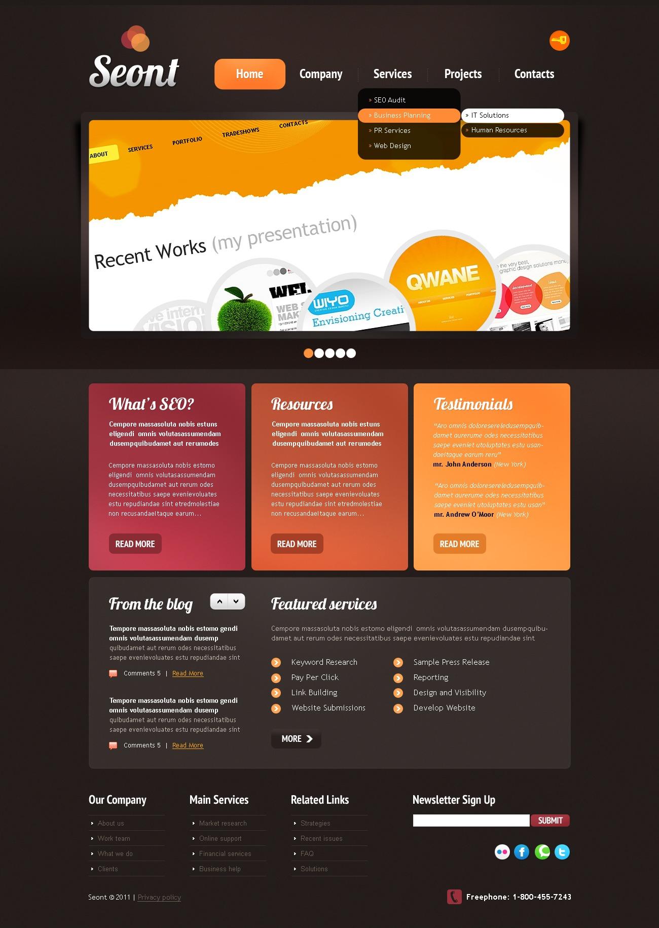 SEO Website Website Template #35015