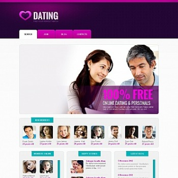 Create Dating Website Dating Templates MotoCMS - Dating website template