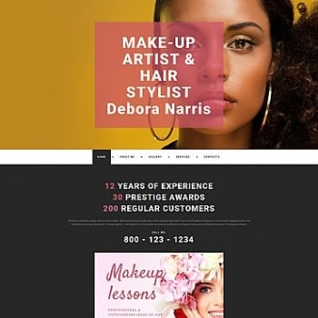 Fashion Stylist Website Design For Artist Portfolio Image 55632