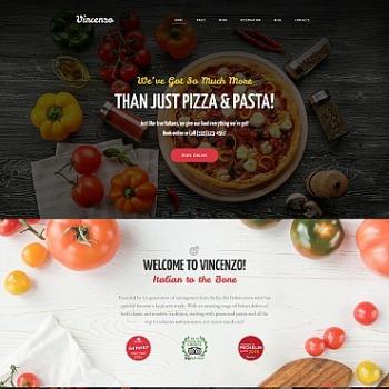 pizza restaurant website design for italian food site image 65569