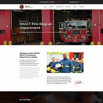 Fire Department Website Template For Brigades And Firefighters Image 68195