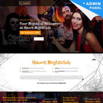 Halloween Website Templates Pumpkin Web Design Motocms