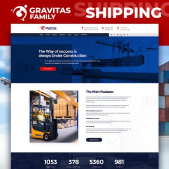 Transportation Website Templates - Transport Logistics | MotoCMS