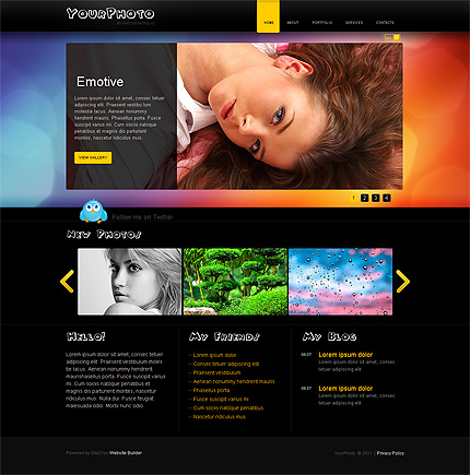 ADOBE Photoshop Template 35109 Home Page Screenshot