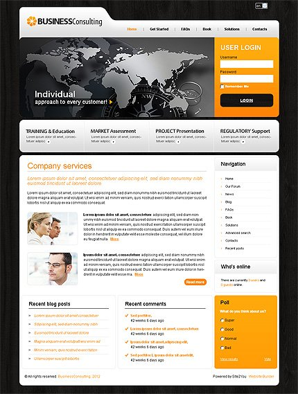 ADOBE Photoshop Template 35112 Home Page Screenshot