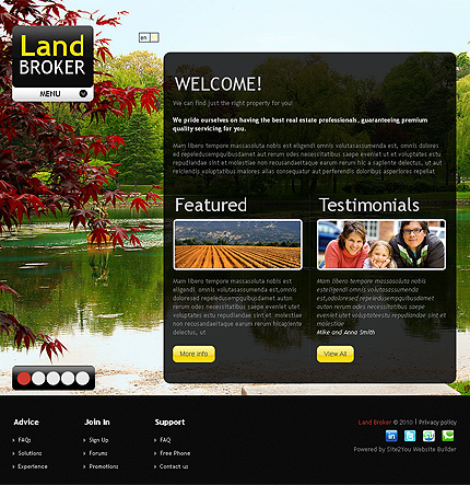 ADOBE Photoshop Template 35113 Home Page Screenshot