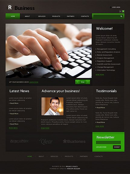 ADOBE Photoshop Template 35116 Home Page Screenshot