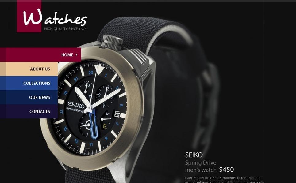 Flash CMS шаблон на тему годинники New Screenshots BIG
