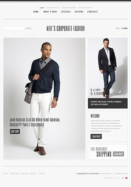osCommerce Template 35169 Main Page Screenshot