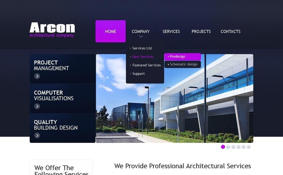 Plantilla web 35188 para sitio de arquitectura for Arquitectura sitio web