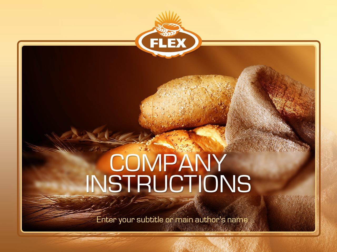 PowerPoint шаблон №35158 на тему хлебобулочные изделия