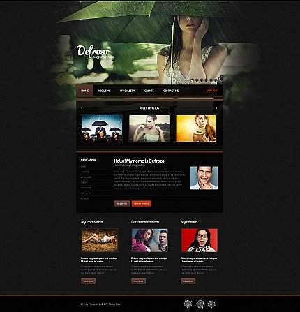 ADOBE Photoshop Template 35209 Home Page Screenshot