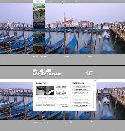 ADOBE Photoshop Template 35210 Home Page Screenshot