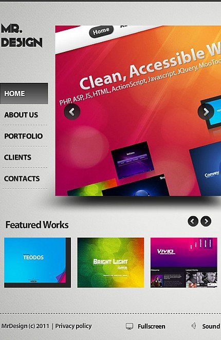 ADOBE Photoshop Template 35214 Home Page Screenshot