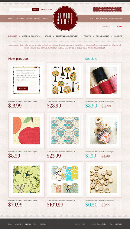 osCommerce Template 35279 Main Page Screenshot