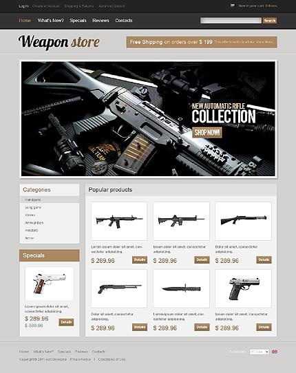 osCommerce Template 35281 Main Page Screenshot