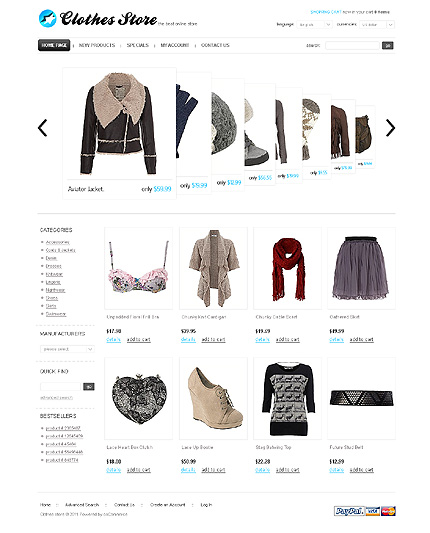 osCommerce Template 35282 Main Page Screenshot