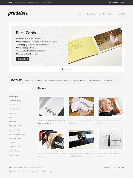 osCommerce Template 35283 Main Page Screenshot