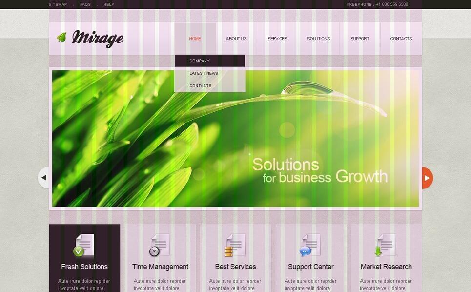 Plantilla PSD #35287 para Sitio de Negocio y Servicios New Screenshots BIG