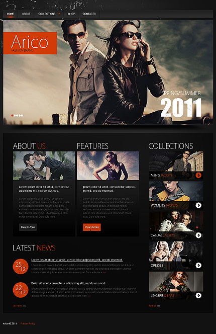 ADOBE Photoshop Template 35288 Home Page Screenshot