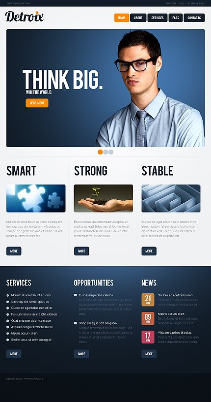ADOBE Photoshop Template 35289 Home Page Screenshot