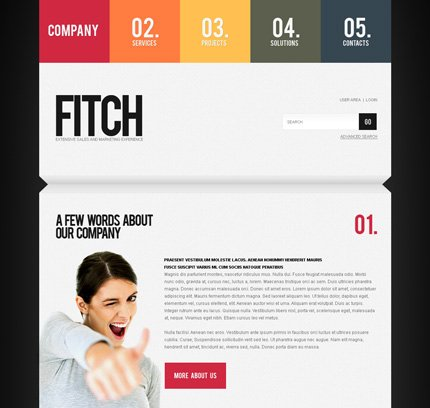 ADOBE Photoshop Template 35291 Home Page Screenshot