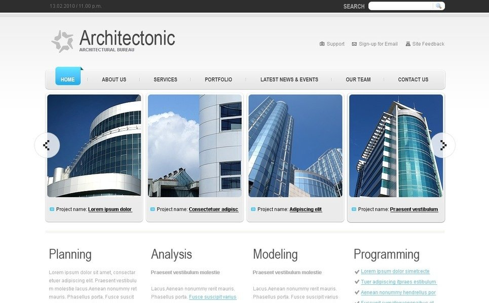 PSD Vorlage für Architektur New Screenshots BIG