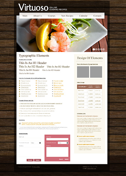 ADOBE Photoshop Template 35295 Home Page Screenshot
