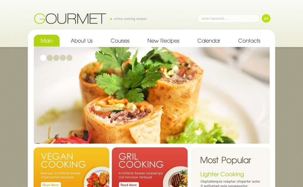 PSD шаблон на тему кулінарна школа New Screenshots BIG